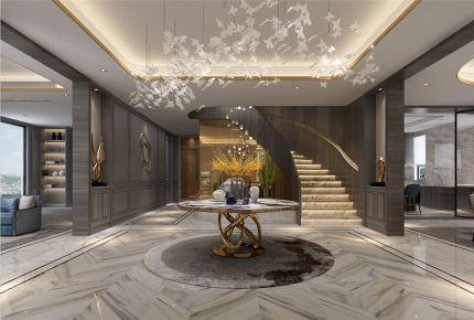 乔爱庄园别墅项目装修新古典风格设计