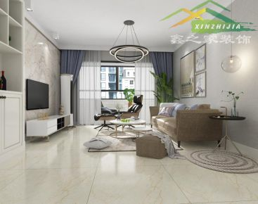绿地香树花城87平现代简约室内设计