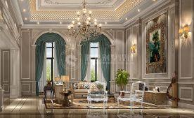 碧桂园别墅项目装修法式风格设计