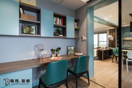 廊坊安瑞家园现代三居室装修效果图