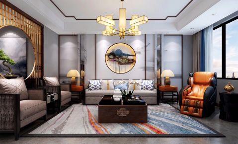 北京御湖湾--新中式风格三房装修设计效果图