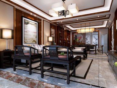 中山星汇品峰中式三居室装修效果图