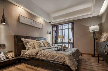 中山紫园新中式风格三居室装修案例