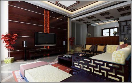 中式二居室装修效果图
