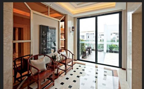 世茂东一号中式风格两居室装修案例