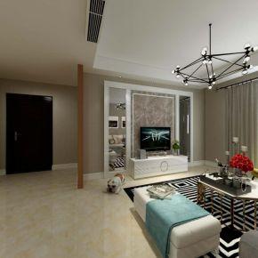 现代三居室装修案例