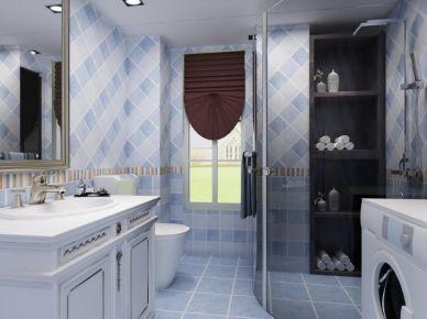 水藍群現代三居室裝修效果圖