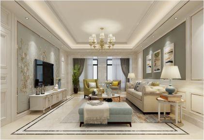 合肥华润橡树湾欧式风格三居室装修效果图