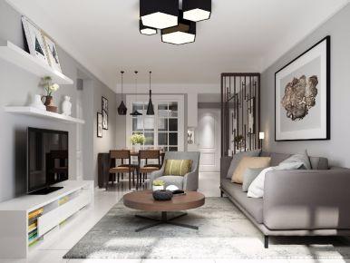 都市兰亭现代三居室装修案例