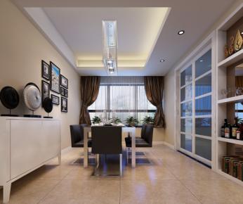 合肥国贸天琴湾简约三居室装修效果图