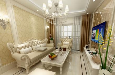 惠州天源花园欧式风格三居室装修效果图