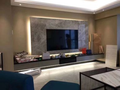 天悦龙庭现代风格三居室装修案例