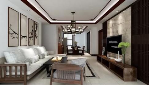 新中式风格三房装修设计 新中式风格家庭装修效果图