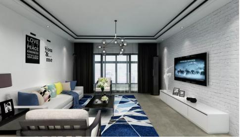卓越蔚蓝海岸现代风格三居室效果图
