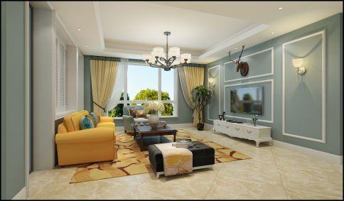 大连东港第简约美式三居室装修案例