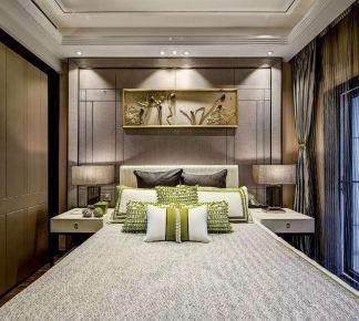 彩云湖畔中式三居室装修效果图