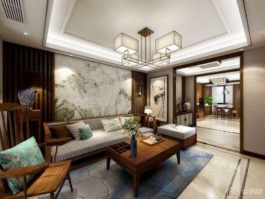 长信银湾新中式三居室装修效果图