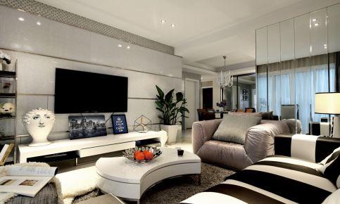 首创漫香郡现代三居室装修效果图