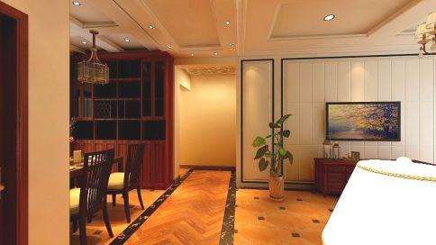 济南世贸三室美式风装修效果图