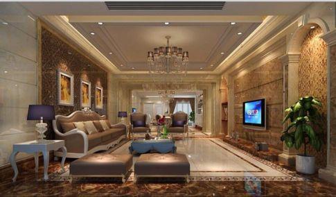 佛山千灯湖三居室欧式风格设计效果图