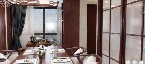 欢乐城新中式雅居 新中式风格四房装修设计