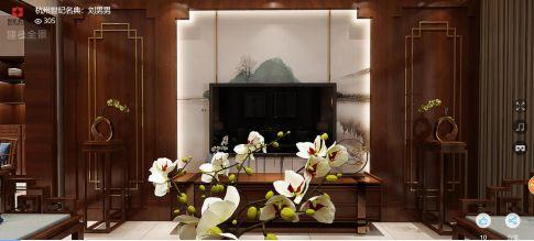 永和苑雅居中式风格三居室装修案例
