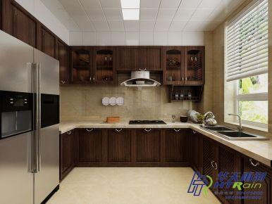 溪岸艺墅130㎡新中式三居室装修案例