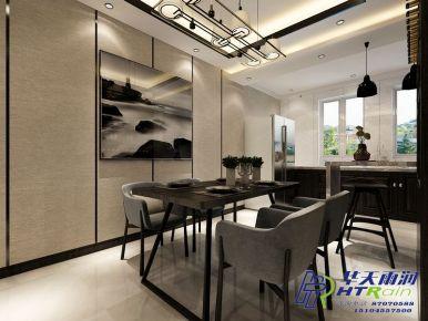 钻石湾地中海阳光100㎡新中式三居室装修效果图
