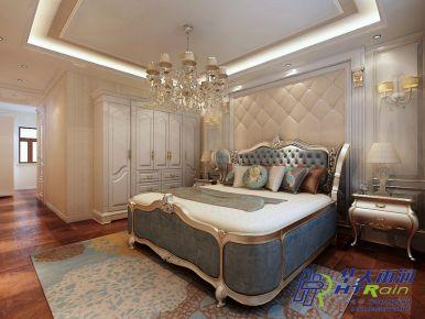 万达城230㎡欧式风格四居室装修效果图