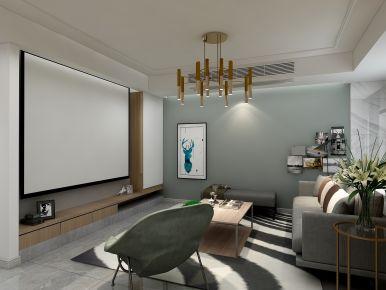 滨江明珠城混搭两居室装修效果图