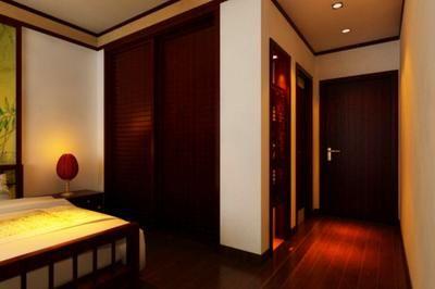 君临天华中式三居室装修案例