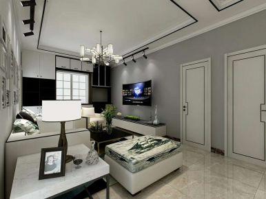 北京龙华园西区现代三居室装修案例