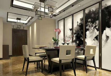 龙华园中式风格三居室装修效果图