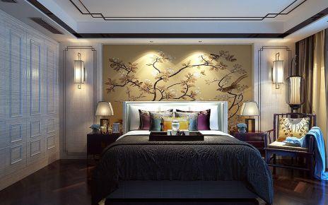 龙锦苑一区中式风格四居室装修案例