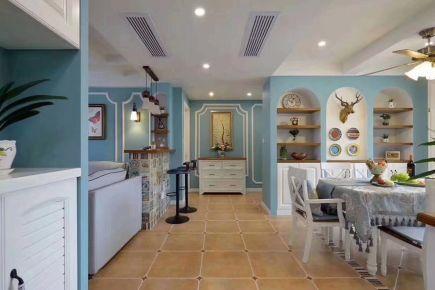 和谐家园二区地中海风格三居室装修效果图