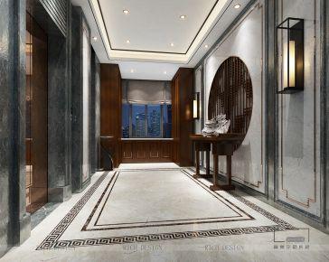 港铁天颂·中式风格别墅装修设计效果图欣赏