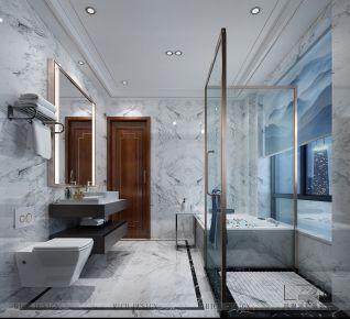 深圳壹方中心小区·中式风格四居室装饰设计