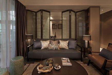 138m²大两居室中式风装修 中式风格装修效果图欣赏