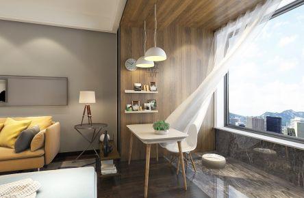 现代简约加北欧混搭一居室装修效果图
