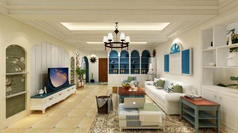 昆明金色国际 地中海风格三房装修效果图