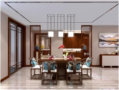 三居新中式风格装修效果图 中式风格家庭装修设计