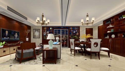 中式四居室公寓案例效果图