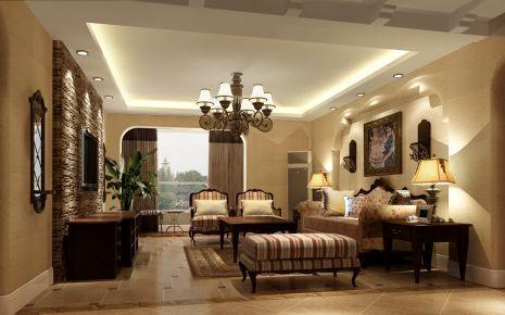 美式风格四房装修设计 美式风格家庭装修效果图