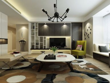 西安紫汀苑160平现代简约四居室装修效果图
