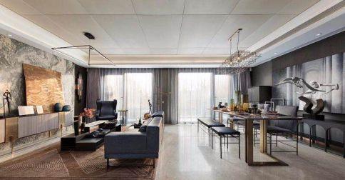 常州龙湖龙誉城  创意混搭风格三房装修效果图