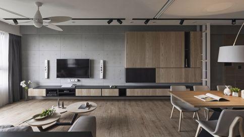 高级灰三房装修设计 日式风格三房装修效果图