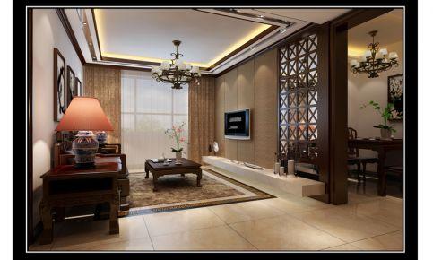 中式风格两房装修设计 中式风格家庭装修效果图