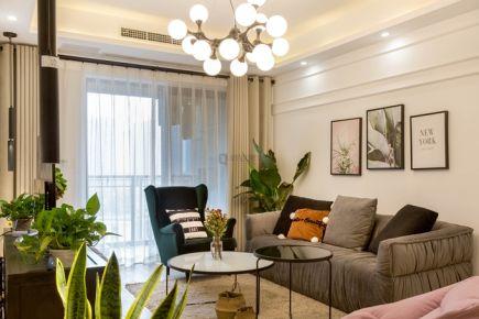 重庆约克郡|75平两居室|北欧风格装修实景图