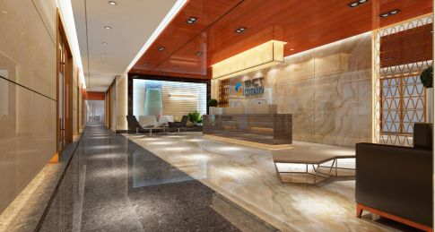 投资公司办公室装修设计  现代风格办公室装修效果图