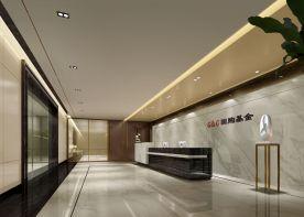 金融公司办公室装修设计 中式风格办公室装修效果图